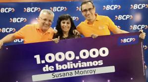 Promo Millonaria del BCP entrega un millón de bolivianos a una ahorrista cochabambina